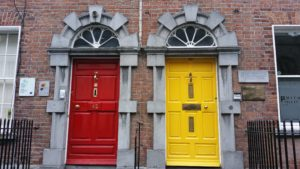 Multicoloured doors in Kilkenny City